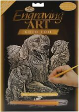 INCISIONE ARTE Set-GOLDEN RETRIEVERS (ORO FOIL) by Royal & Langnickel