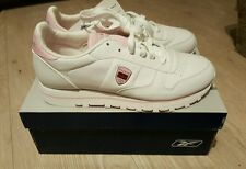 Reebok classic leather ladies womens trainers, size 6, BNIB, White + pink detail