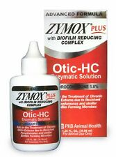 Pet Dog Zymox Plus Otic-HC 1% Yeast Infection Ear Treatment Solution 1.25 Red