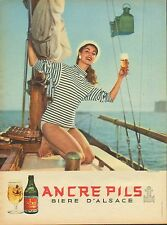 Publicité  Advertising  --  ANCRE PILS  bière d'alsace