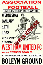 WEST HAM UNITED - VINTAGE 1920's STYLE MATCH POSTER