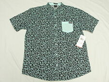 $52 NWT Mens Enyce Sean Combs Throwback Button Down Shirt Urban 3XL 3X 3XB M974