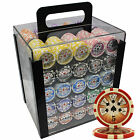 Private - 1000 14G HIGH ROLLER CLAY POKER CHIPS SET ACRY CASE- Private for Jef**