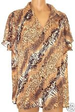 Bay Studio 1X accordion pleated button front short sleeve blouse shirt tunic top