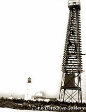 Mispillion Lighthouse Beacon Tower, Milford, Delaware 1924 Historic Photo Print