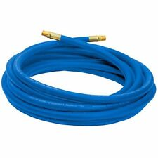 Campbell Hausfeld Air Hose 25ft, 3/8-Inch, Reinforced PVC Hose with Brass Blue