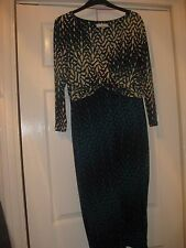 John Rocha Dress Size 12 - green multi