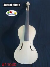 hand made solid wood Baroque style unfinished 4/4 violin,white violin  #11040