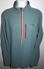 Men's M Columbia Titanium Omni Heat 1/2 Zip Fleece Reflective 360 Heat Comfort