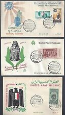 EGYPT 1950s COLLECTION OF SIX CACHETED FDCs