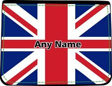 PERSONALISED UNION JACK FLAG PRINT FAUX LEATHER MENS WALLET BIRTHDAY XMAS GIFT