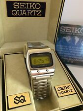 Seiko 0624-5009 Lemon Face LCD LED Rare Collectible Watch
