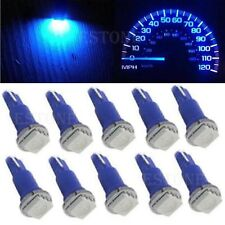 10X Blue T5 5050 1SMD Wedge Car Dashboard LED Light Bulbs 2721 74 73 70 17 18 37