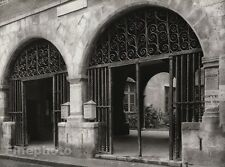 1927 Vintage FRANCE Perpignan Town Hall Doorway Architecture Photo By HURLIMANN