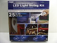 Prime indoor/outdoor remote controlled LED light string Kit 25 ft