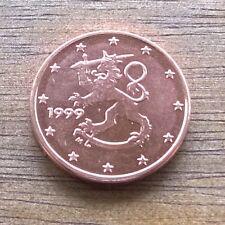 EURO FINLANDIA FDC 1 CENT FIOR DI CONIO DA ROTOLINO RARI 1999