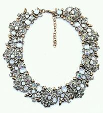 Designer Inspired Statement Chunky Bib Choker Iridescent Rhinestone Necklace