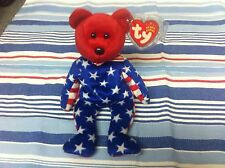 TY LIBERTY BEAR JUNE 14 2001 DATE ERROR PE PELLETS Beanie Baby Toy NEW RETIRED