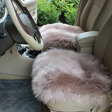 Brown Furry Warm Car Seat Cover Wool Plush Comfortable Pad Cushion 18''×18''