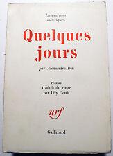 RUSSIE/QUELQUES JOURS/ALEXANDRE BLEK/ED NRF/1962