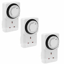 3 x 7 DAY ELECTRICAL PLUG-IN TIMER SWITCH LOCK SOCKET 7DAY TIMER 3 PIN ADAPTER