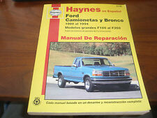 Haynes en espanol Ford Camionetas y Bronco 1980 al 1994