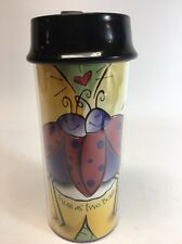 Starbucks Tumbler 2001 Snug as two bugs Valentines Day LOVE Travel Cup