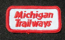 "MICHIGAN TRAILWAYS EMBROIDERED SEW ON ONLY PATCH MOTOR COACH 2 1/2"" x 1 1/2"""