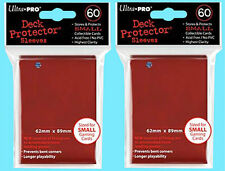 120 Ultra Pro DECK PROTECTOR RED Card Sleeves YuGiOh Small Pack Gaming Sleeves