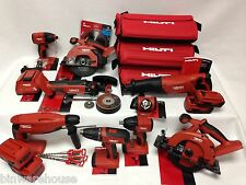 HILTI 18v CORDLESS 9 Tool Lithium Ion COMBO 21.6v Kit Set 4 Batteries 3 bags NEW