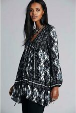 NWT $108 Free People OB456201 Down By The Bay Tunic Dress Sz S