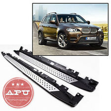 07-12 BMW E70 X5 xDrive Aluminum Running Boards Pair Set Side Steps OE Style