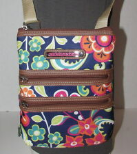 LILY BLOOM MultiColored BELLA Crossbody Hipster Floral Handbag Recycled Material