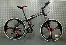 "Pedalease Fusion 26""wheel Folding Mountain Bike 2016 model- mag wheels magnesium"