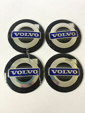4PCS 56MM Wheel Center Hub Caps Emblem Decal Stickers for VOLVO White/Black/Blue