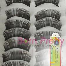 10 Pairs Handmade Soft Thick Long Black False Eyelashes Eye Lashes with Glue