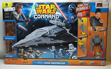 2014 STAR WARS REBELS COMMAND STAR DESTROYER REMOTE CONTROL + 9 FIGURES Hasbro