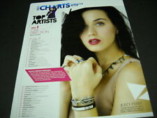 KATY PERRY is the #2 Artist overall 2014 PROMO chart style DISPLAY PAGE mint con