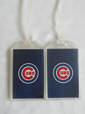 CHICAGO CUBS WORLD SERIES CHAMPIONS LOGO LUGGAGE TAGS - SET OF 2 (PAIR) - MLB ID
