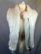 Haute Hippie Women's Buff Rabbit Fur Vest HOODWF11-1335 $595 NEW Size L