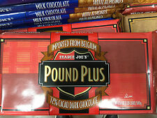 3 HUGE TRADER JOE S BELGIUM POUND PLUS 72% DARK CHOCOLATE BAR 1 POUND EACH 3x