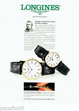 PUBLICITE ADVERTISING 1016  1994  Longines  collection montre  Grande Classique