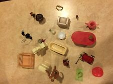Vintage 1950's Dollhouse Furniture and Accessories