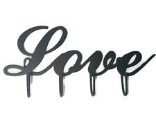 "Love Decorative Key Hook Hanger Rack Holder Wall Decor 10"" X 4"""