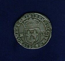 "FRANCE  HENRY IV  1601  ""1/4 ECU""  SILVER COIN, VF/XF"
