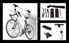 Elevador de bicicletas. Soporte techo garaje para colgar. Polipasto, cabrestante