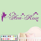 Wall Art Sticker - Personalised Name Fairy Stars Girls Bedroom Childrens Vinyl