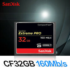 SanDisk 32GB Extreme Pro 160/150MB/s UDMA7 CompactFlash CF Card SDCFXPS-032G
