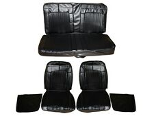 PG Classic 7702-BUK-100 1969 Coronet 500R/T Superbee Bucket Seat Cover Set(Black