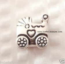 NEW Authentic PANDORA 925 ALE Silver BABY CARRIAGE/Stroller Charm~Bead 790346